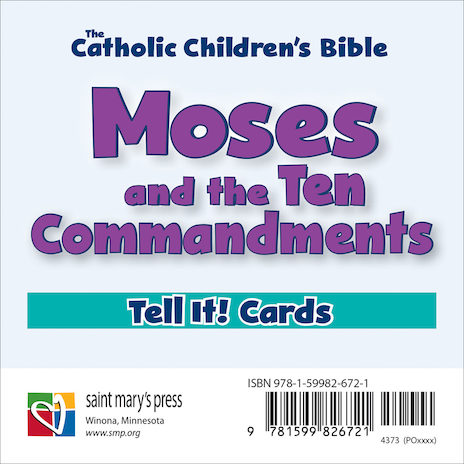 Moses and the Ten Commandments Tell It! Cards