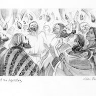 Acts 2:3 Illustration - Tongues of Fire