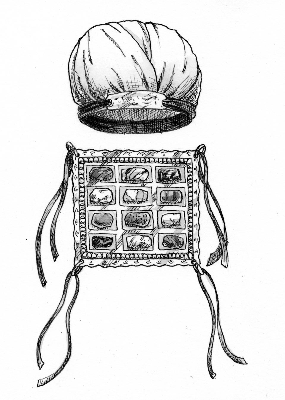 Breastplate And Turban Of High Priest
