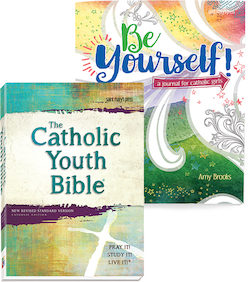 The Catholic Youth Bible® + Be Yourself Girl's Journal