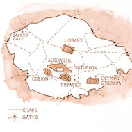 Acts 17 Illustration - Map of 1st Century Athens